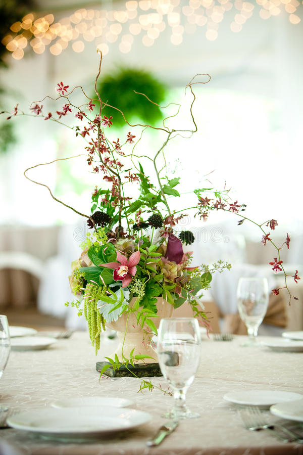 stołowy centerpiece ślub zdjęcia royalty free