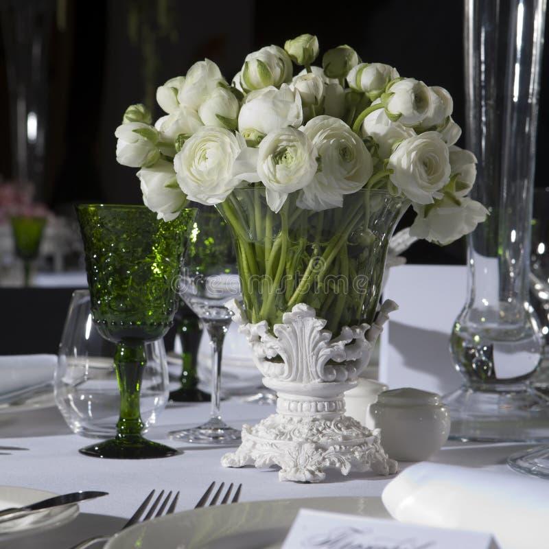 stołowy dekoracja ślub zdjęcie royalty free
