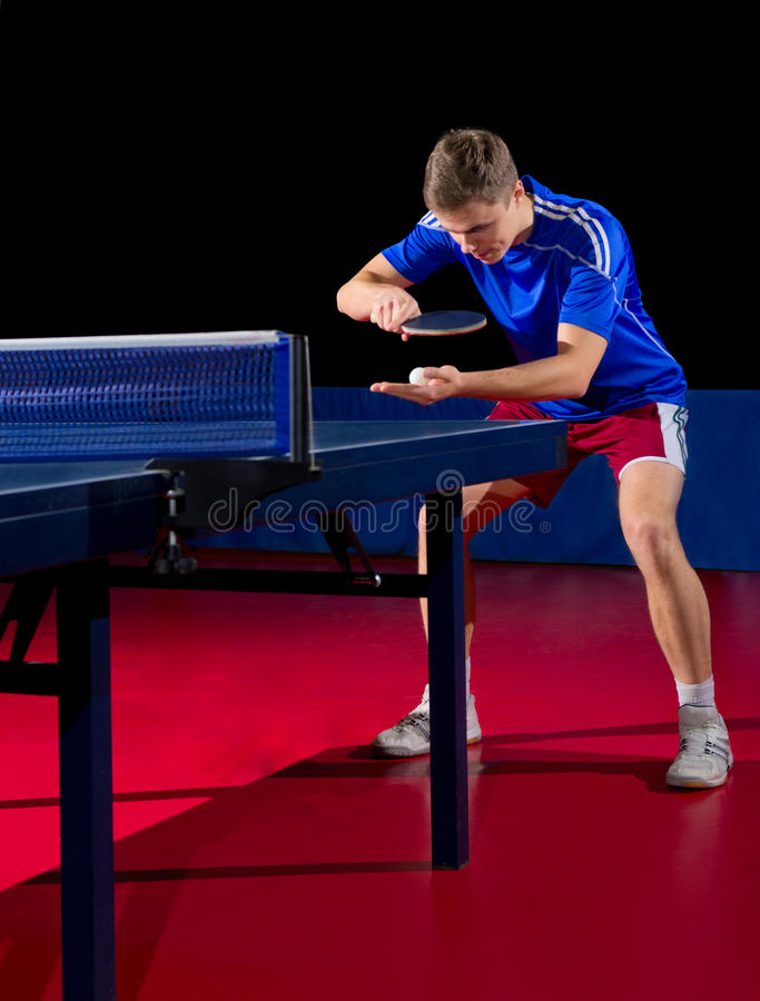 Stołowy gracz w tenisa fotografia stock
