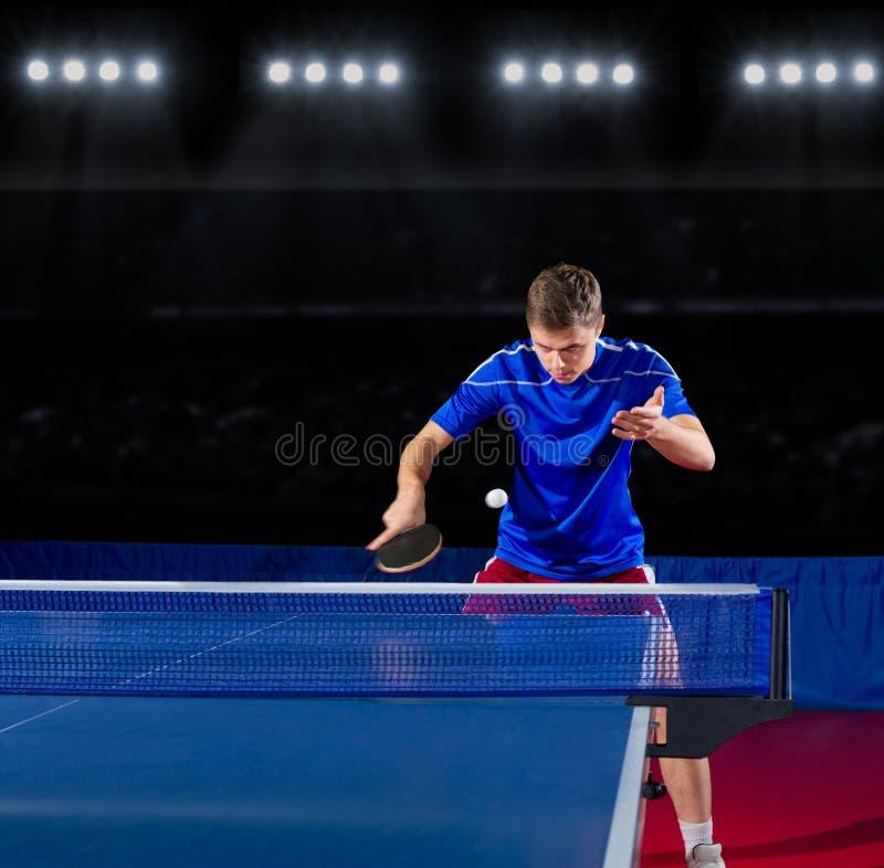 Stołowy gracz w tenisa zdjęcie royalty free