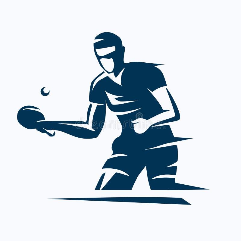 Stołowy gracz w tenisa ilustracja wektor