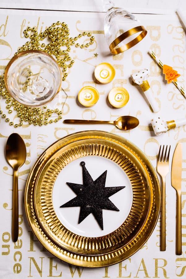 Stołowy nowego roku położenie zdjęcie royalty free