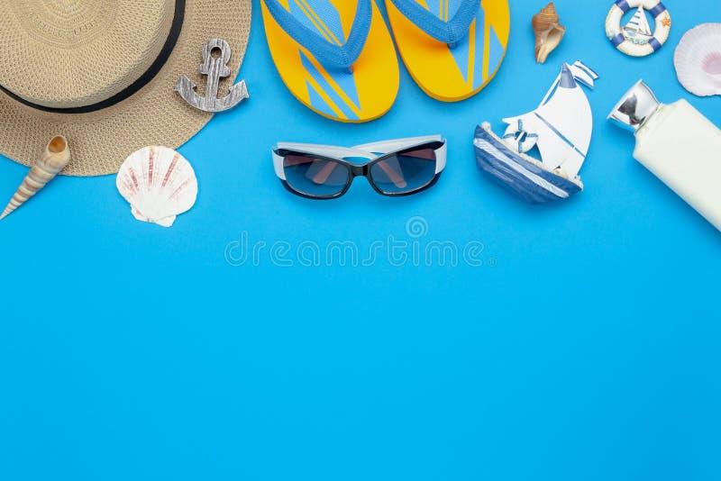 Stołowy odgórnego widoku powietrzny wizerunek lato & podróż plażowy wakacje zdjęcie stock