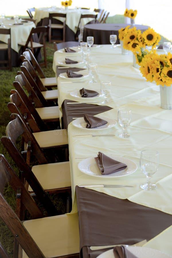 stołowy przyjęcie ślub obrazy stock