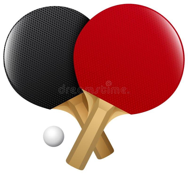 Stołowy tenis royalty ilustracja