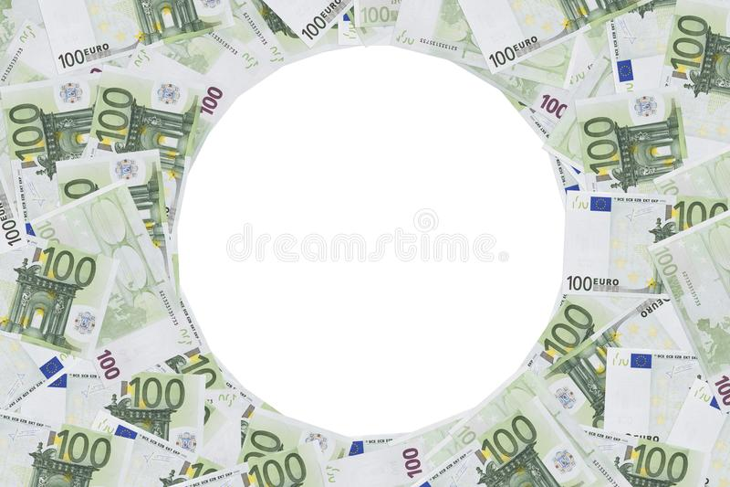 Sto Euro notatki fotografii ram zdjęcia royalty free
