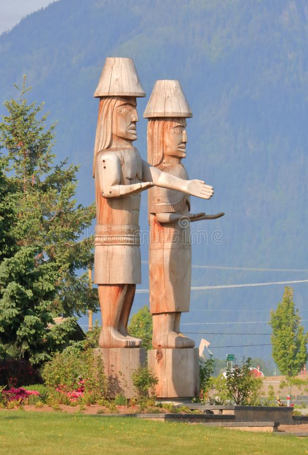 Sto:Lo First Nations Artwork and Statues stock photo