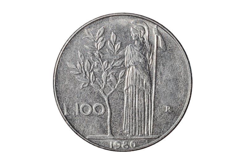 Sto włoskiego lira monet obrazy royalty free