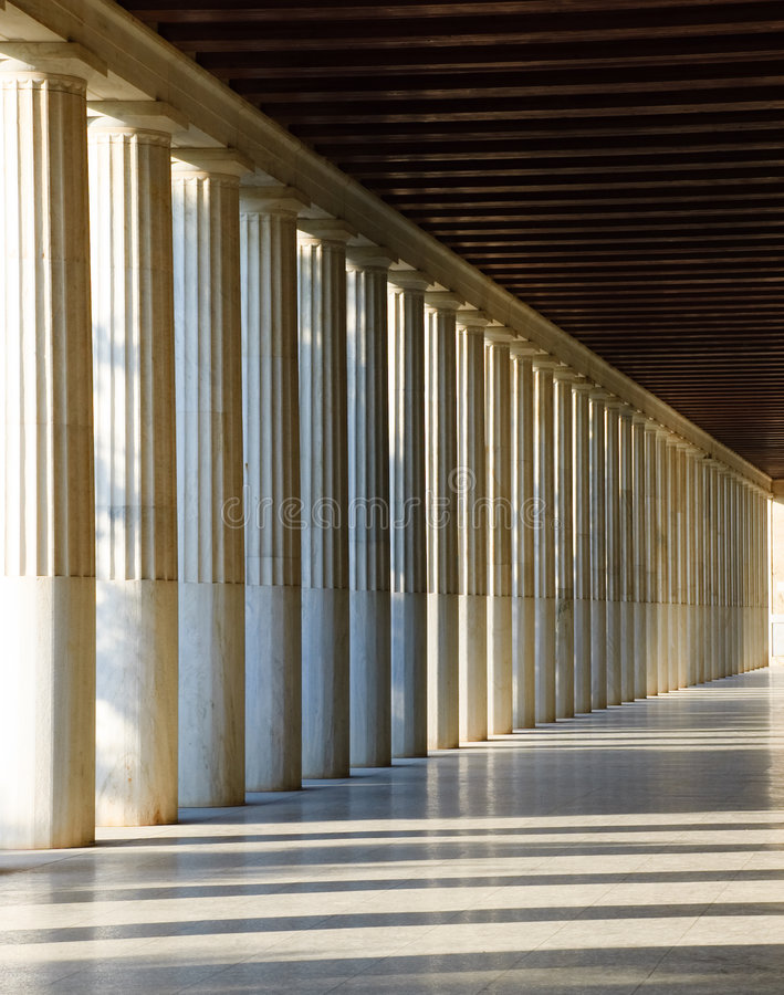 The Stoa, Athens royalty free stock photos