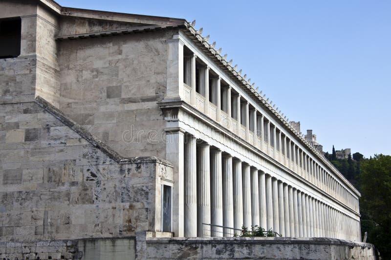 Stoa de Attalos, Atenas, Greece imagem de stock royalty free