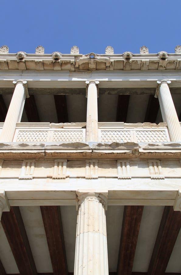 Stoa de Attalos, Atenas, Greece foto de stock