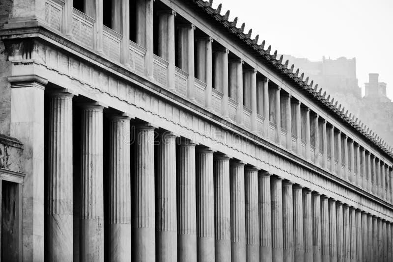 Stoa de Attalos em Atenas, Grécia foto de stock