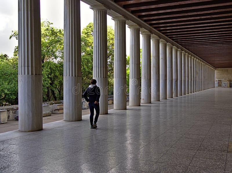 Stoa de Attalos em Atenas, Gr?cia fotografia de stock
