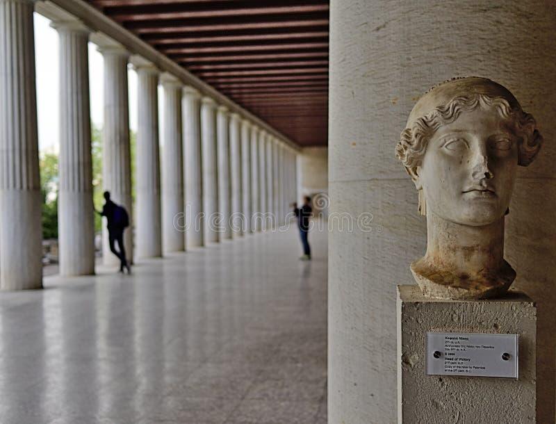 Stoa de Attalos em Atenas, Gr?cia fotos de stock