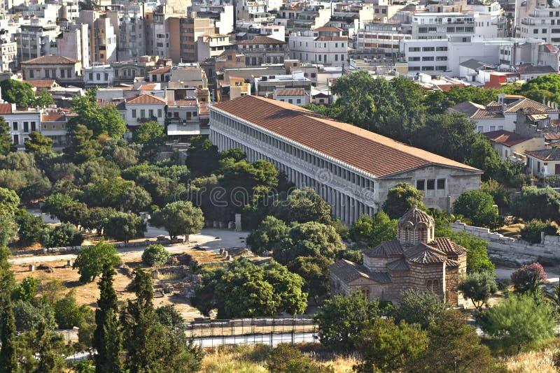 Stoa de Attalos em Atenas, Greece imagem de stock