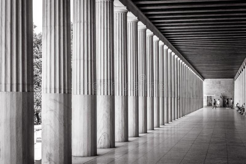 Stoa de Attalos na ágora, Atenas, Grécia fotos de stock royalty free