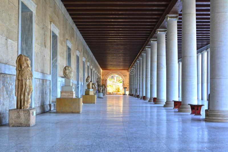 Stoa di Attalus immagine stock