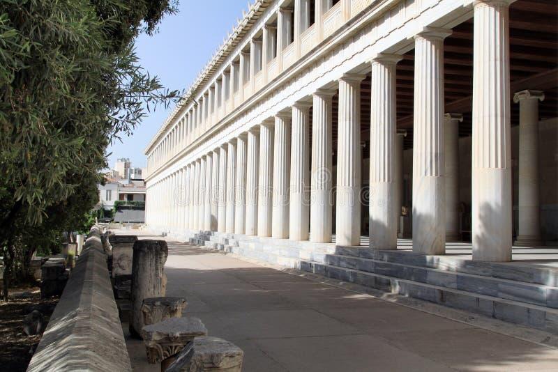 Stoa von Attalos, Athen, Griechenland stockbilder
