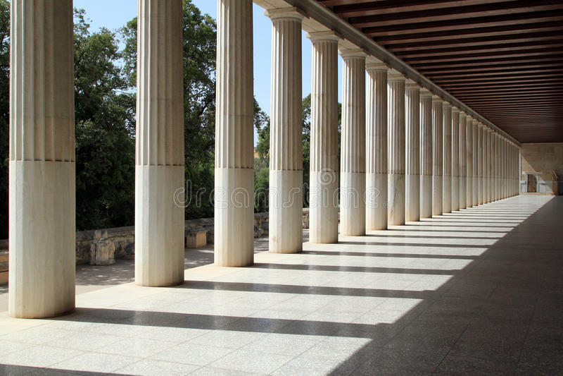 Stoa von Attalos, Athen, Griechenland stockbild