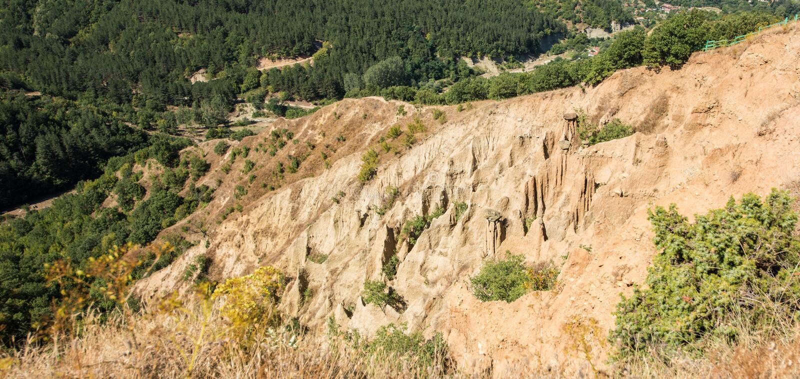 Stob ` s金字塔在保加利亚 库存图片