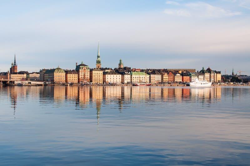 Stoccolma alla mattina fotografie stock libere da diritti