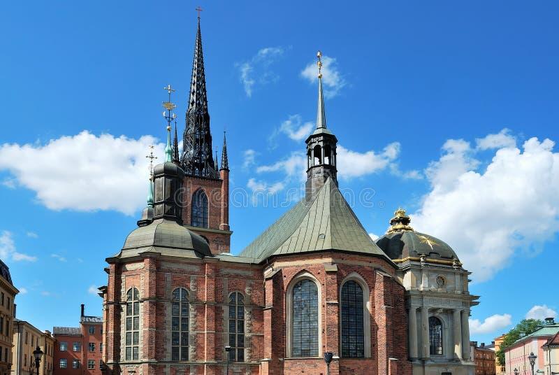 Stoccolma, chiesa Riddarholmskyrkan fotografia stock libera da diritti