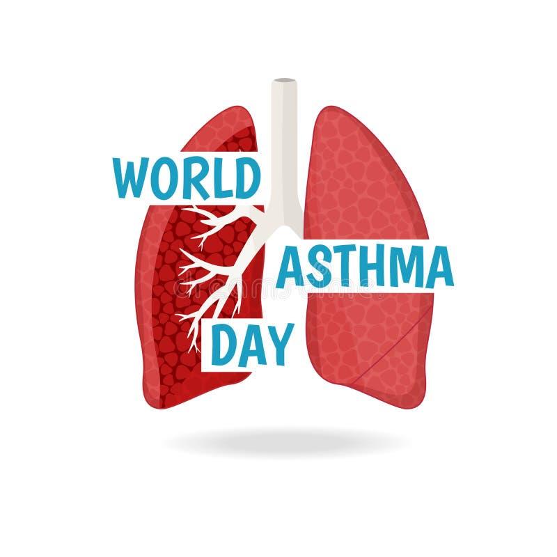 World Asthma Day. stock illustration