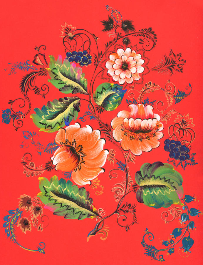 Stock abstract decorative ornament painting royalty free stock images