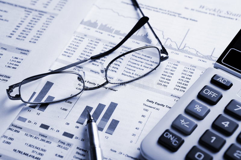 Stock analysis stock images