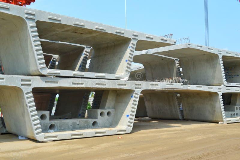 Box Girder in construction site stock photos