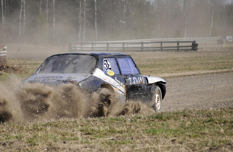 Stock car race stock photo