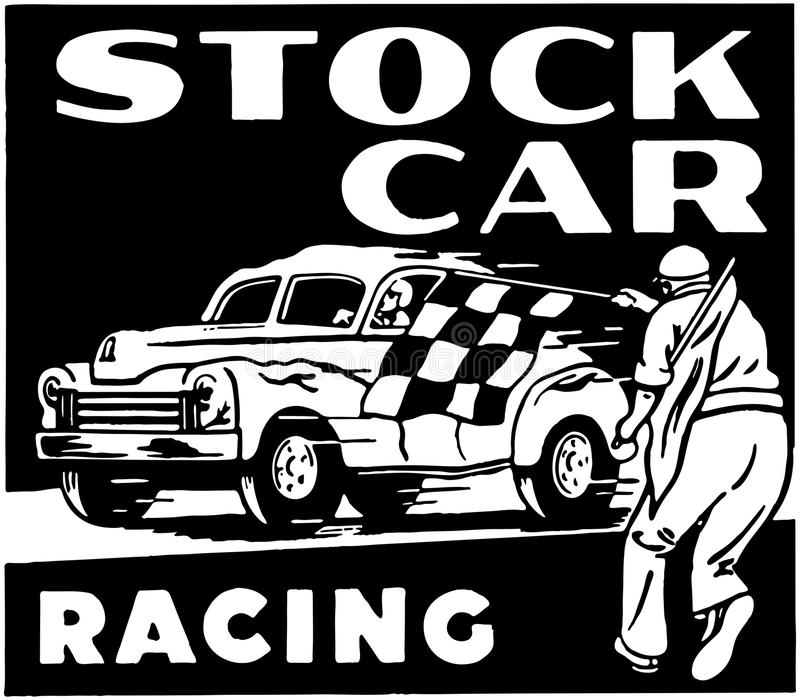 Stock Car Racing royalty free illustration