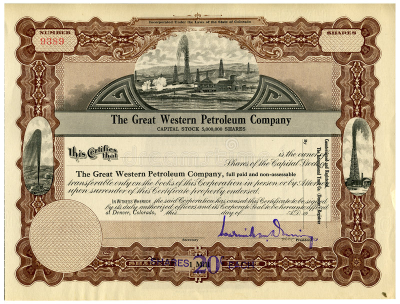 Stock Certificate royalty free stock image
