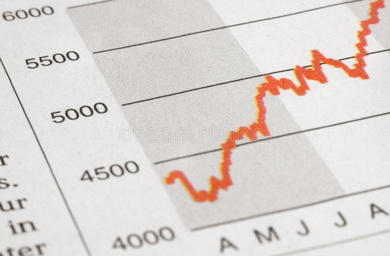 Stock Chart. Drawn stock chart royalty free stock photography