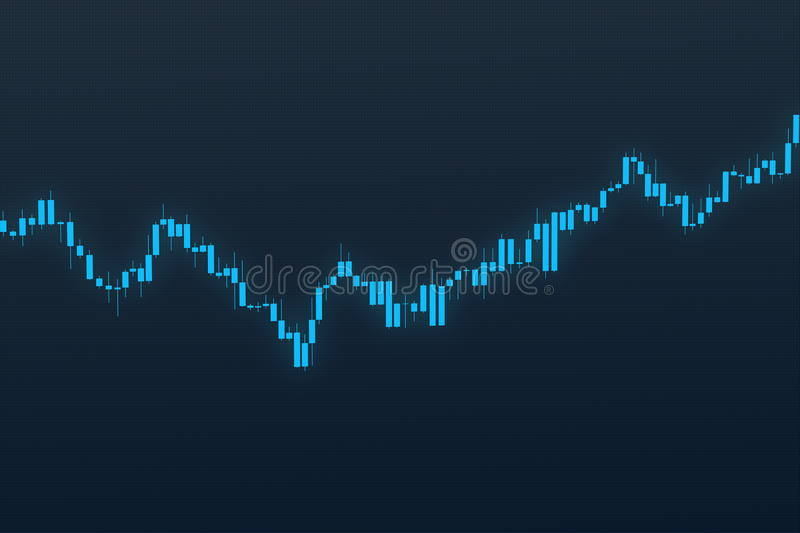 Stock chart on blue grid background. 3D illustration. On textured background. Market chart 3D illustration stock images