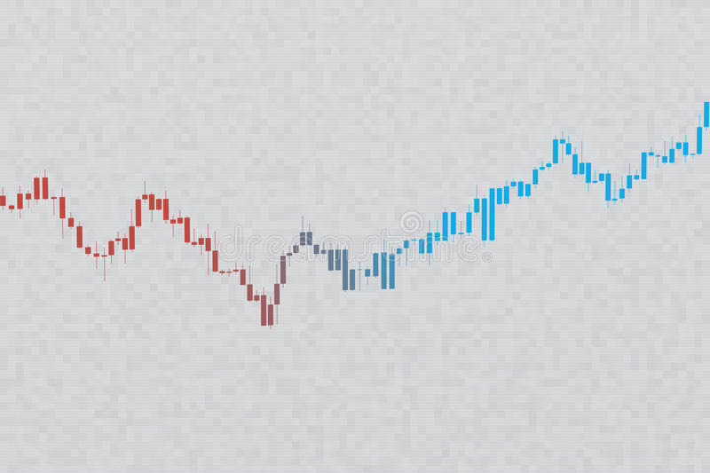 Stock chart on grayscale grid background. 3D illustration. On textured background. Market chart 3D illustration stock images