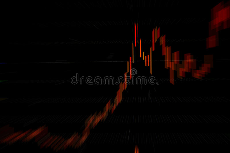 Stock chart. Red stock chart rising up qu royalty free stock photo