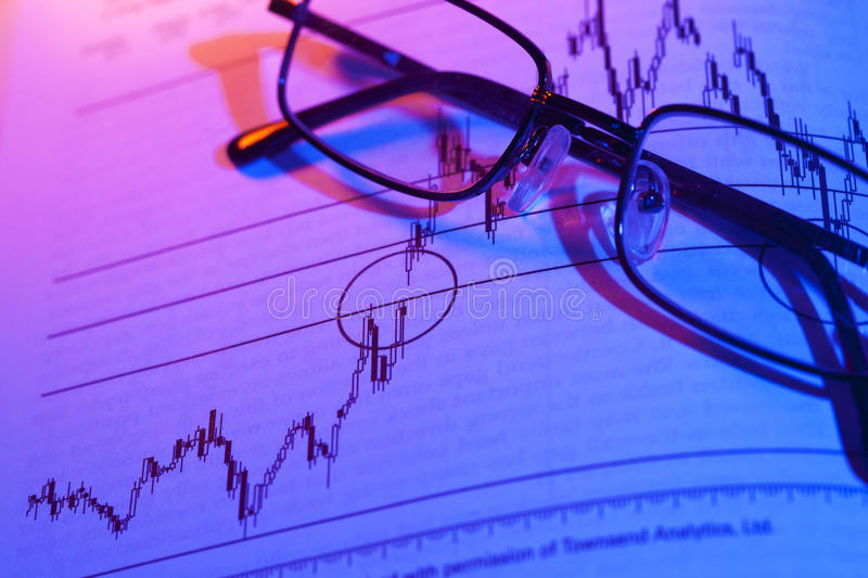 Stock Chart Trading. And investment concept with price action stock photos