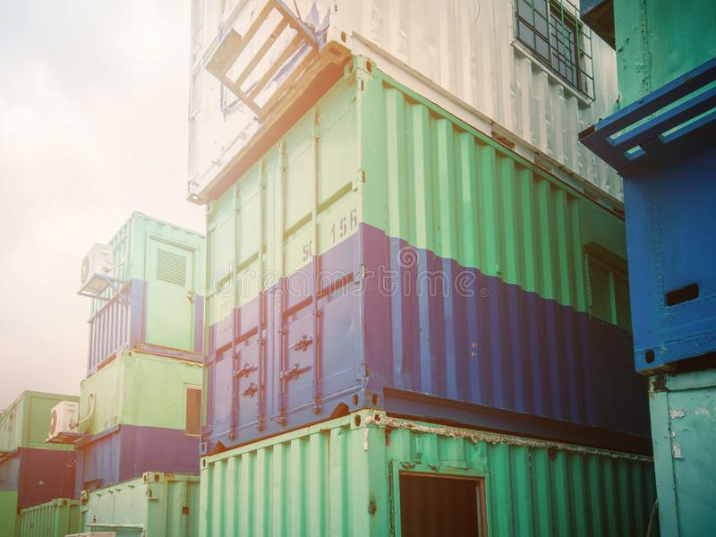 Stock constructions office container for rent and transport for construction sit stock images