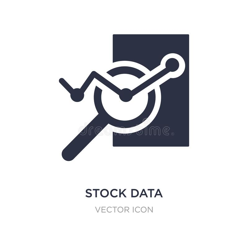 Stock data analysis icon on white background. Simple element illustration from Business and analytics concept. Stock data analysis sign icon symbol design stock illustration