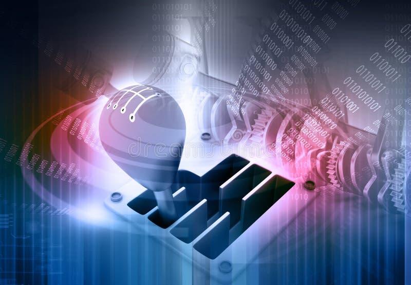 Stock des Gangs 3d auf Technologie lizenzfreie abbildung
