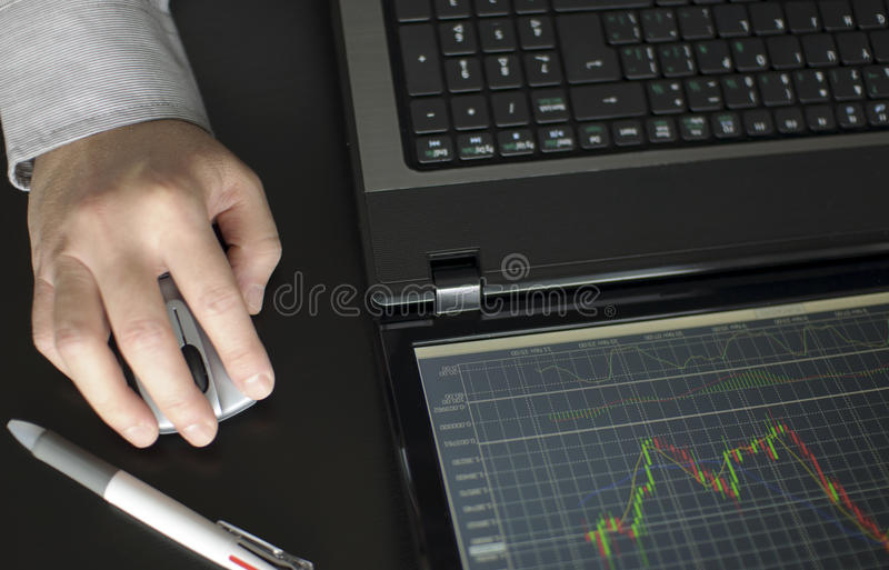 Download Stock Diagram On The Screen Royalty Free Stock Photos - Image: 22043458