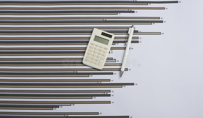 Stock exchange. Stack of money on stock background stock photos