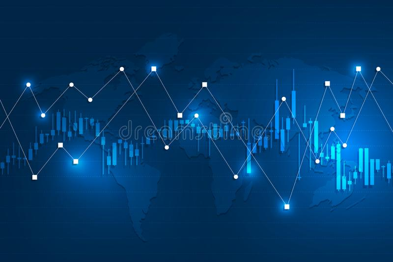 Stock exchange background stock illustration