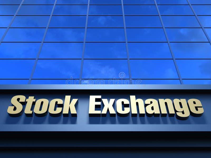 Stock Exchange building vector illustration