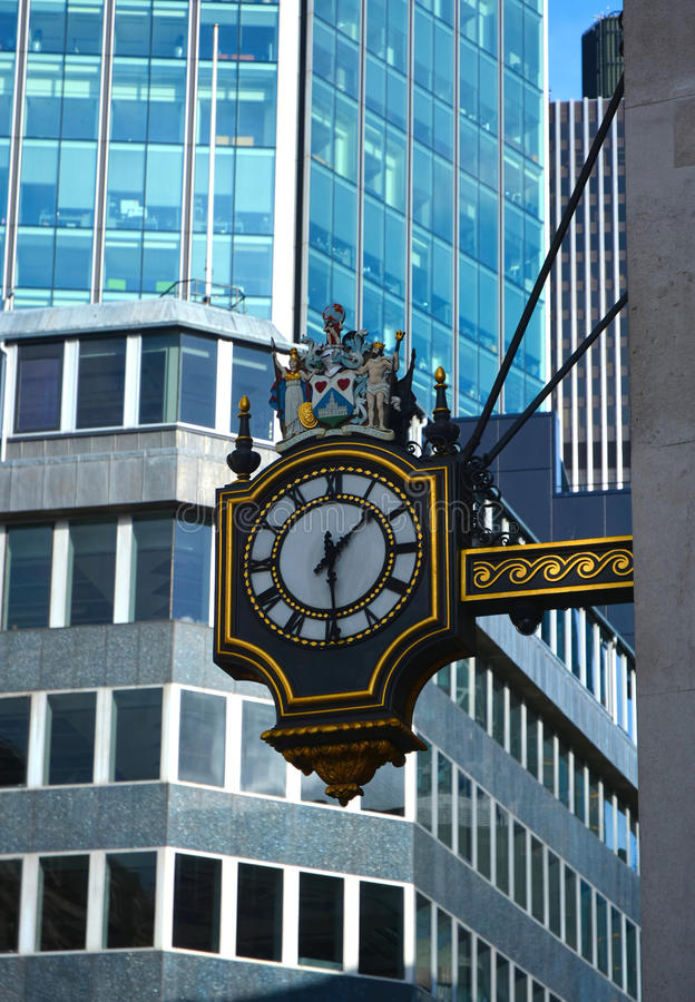 Free Stock Exchange Clock. London Royalty Free Stock Photos - 40846168