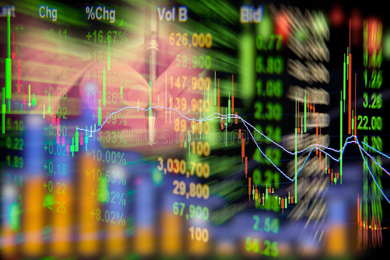 Stock exchange graph background. royalty free stock photos