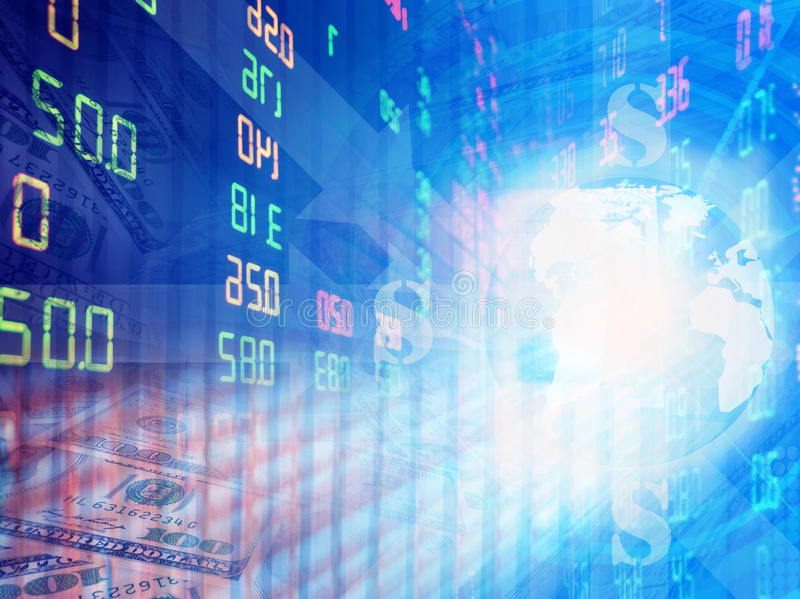 Stock exchange graph background stock photography