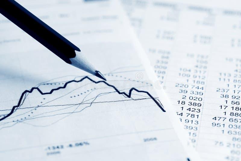 Financial accounting stock market graphs charts stock photo