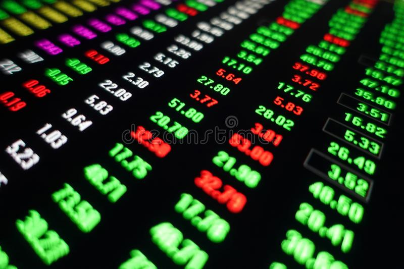 Stock exchange market trading price stock photography